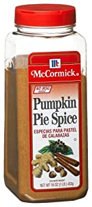 McCormick Pumpkin Pie Spice Mix (no Msg), 16-Ounce Plastic Bottle