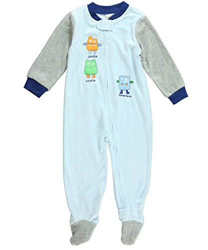 Absorba Baby-Boys Infant Monsters Blanket Sleeper, Blue, 24 Months front-957698