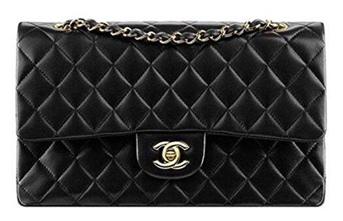 authentic-chennai-classic-flap-bag-gold-lambskin-shoulder-bag