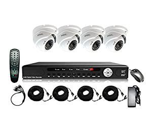 STOiC Tech 4 Channel HD 1080P Surveillance DVR System with 4 IR Cameras