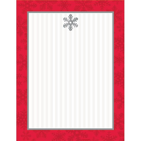 Sparkling Snowflake Imprintable Christmas Invitations 50ct