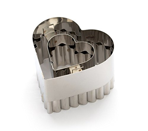 Dexam Heart Shaped Double Sided Vol-au-Vent Cutter (Vent Cutter compare prices)