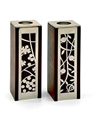 """Pomegranate & Grape Candleholders by Lev Gifts and Design (H5"""" W1.5"""" L1.5"""")"""
