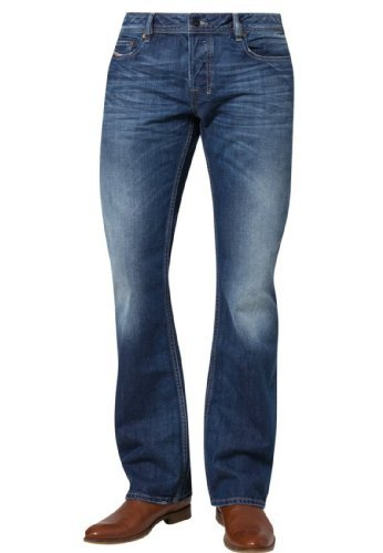 Diesel Zatiny 8XR Bootcut Jeans Mid was da uomo 3232