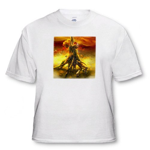 La So Tee Awesome cottage on the tree somewhere in the world Surreal image with eerie - Youth T-Shirt Small(6-8)