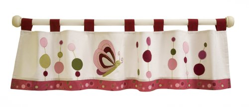 Lambs & Ivy Raspberry Swirl Window Valance
