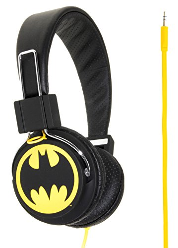 """Batman """"The Dark Knight"""" Cuffie Premium, Nero/Giallo"""