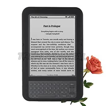"TrendyDigital High Grade Silicone Gel Case for the Amazon Kindle 3 (Third Generation Kindle, Kindle Wi-Fi, or Kindle 3G + Wi-Fi , 6"" Display), Black"