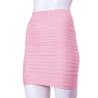 Changeshopping(TM) Fashion Womens Elastic Pleated High Waist Package Hip Skirt
