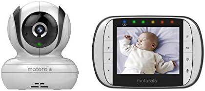 """Motorola Babyphone Vidéo avec écran 3,5"""" - MBP36S - Blanc/Noir"""
