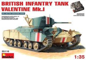 Miniart 1:35 British Infantry Tank Valentine MkI 35116