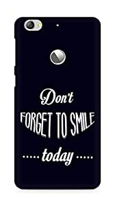 Amez Dont forget to Smile Today Back Cover For Letv Le 1S