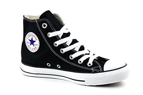 Converse Men's All Star Hi Black/White Shoes (5)