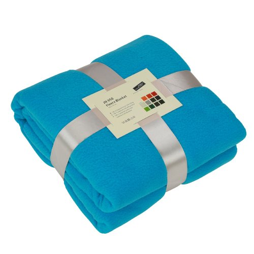 James & Nicholson - Decke Fleece Blanket, Soffitto unisex, Turquoise, 130 x 170 cm