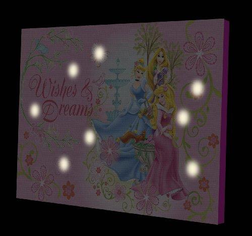 disney princess led light up canvas wall art new free. Black Bedroom Furniture Sets. Home Design Ideas