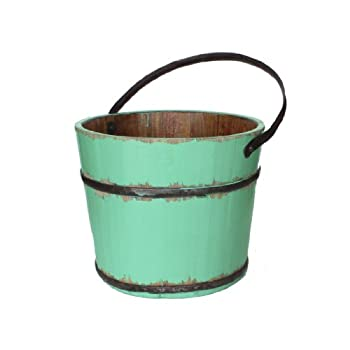 Antique Revival Vintage Anqing House Bucket, Turquoise