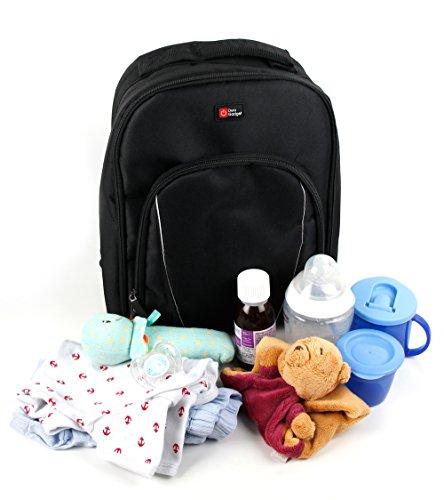 duragadget-chic-stylish-classic-baby-diaper-changing-rucksack-bag-in-black-orange-with-customizable-