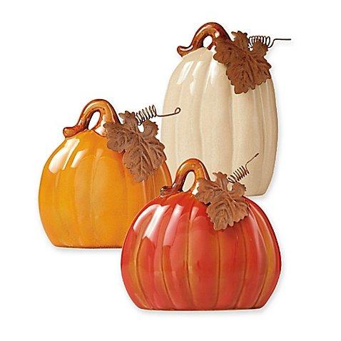 Ceramic 3-Piece Pumpkin Set (Fondue Roller compare prices)