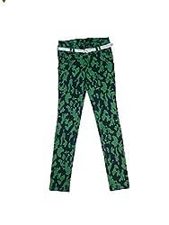 Bodingo Girls' Slim Pant (Bodingo1411G_Green_12-13 Years)