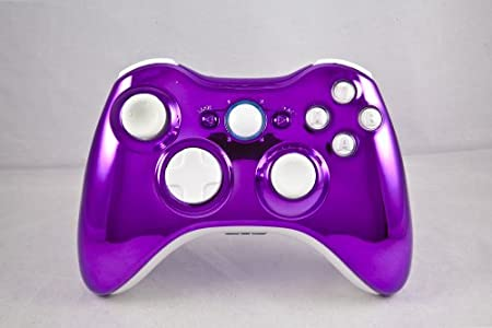 Chrome Purple/White Xbox 360 Modded Controller (Rapid Fire) COD MW3, Black Ops 2, MW2, MOD GAMEPAD