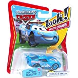 Disney Pixar P7006 Cars Lenticular Eyes #5 Dinoco Lightning McQueen 1:55 Diecast Vehicle Car