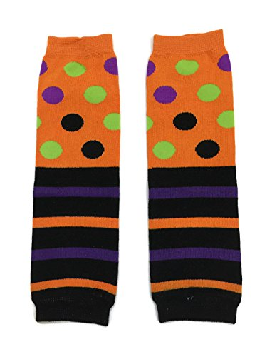 Rush Dance Halloween Parties/ Parades Boys or Girls Baby/ Toddler Leg Warmers (One Size, Half Stripes & Dots)