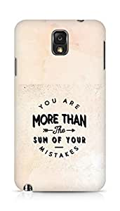 AMEZ you are more than the sum of your mistakes Back Cover For Samsung Galaxy Note 3