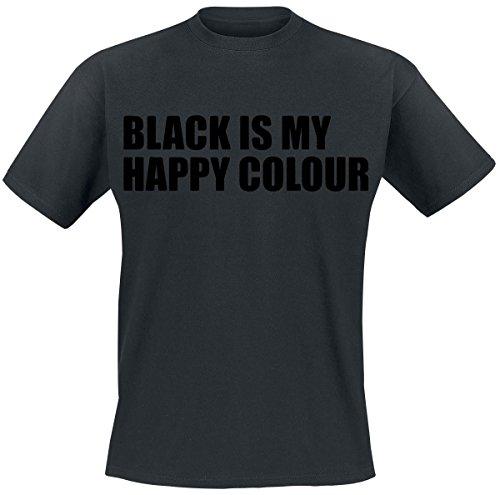Black Is My Happy Colour T-Shirt nero XXL