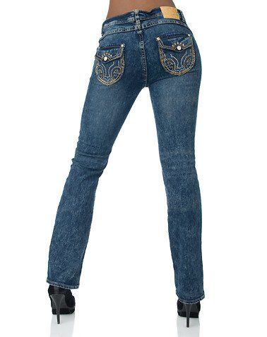 Apple Bottoms Boot Leg Jean Blue 11/12