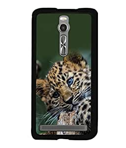 printtech Leopard Cub Cute Back Case Cover for Asus Zenfone 2 , Asus Znfone 2 ZE550ML