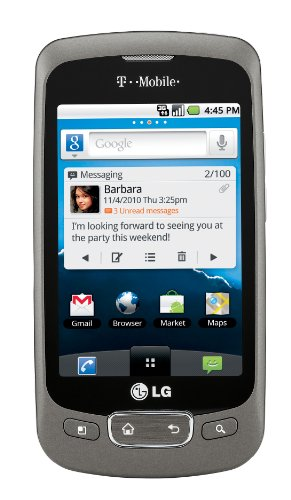 LG Optimus T Android Phone, Titanium (T-Mobile)