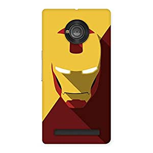 The Awesome Classic and Iron Back Case Cover for Yu Yuphoria
