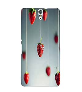 PrintDhaba Strawberries D-1754 Back Case Cover for SONY XPERIA C5 ULTRA (Multi-Coloured)
