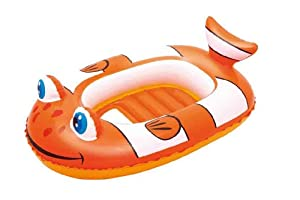 Bestway Little Buddy Clown Fish Raft Above Ground Pool - Orange