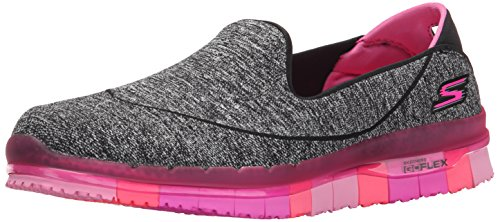 Skechers Performance Women's Go Flex Slip-On Walking Shoe, Black/Hot Pink, 9 M US