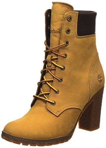 Timberland - Stivali Ek Glancy 6In, Donna, Amarillo - Jaune (Wheat), 39