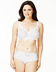Total Support Non-Wired All-Over Fleur Lace B-G Bra
