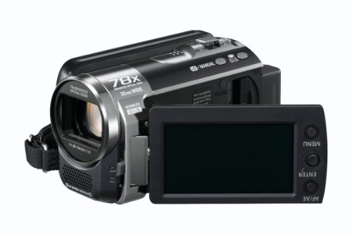 Panasonic SDR-H85 Camcorder With 80GB HDD, X78 Enhanced Optical Zoom, Wide Angle Lens, iA + Af Tracking and Optical Image Stabilisation - Black