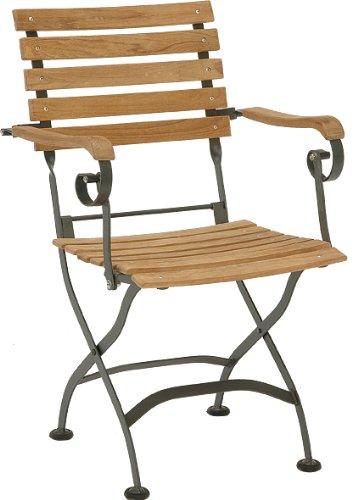 Stern 426711 Klappsessel Montana, Gestell Flachstahl schwarz, Holz Teak massiv jetzt kaufen