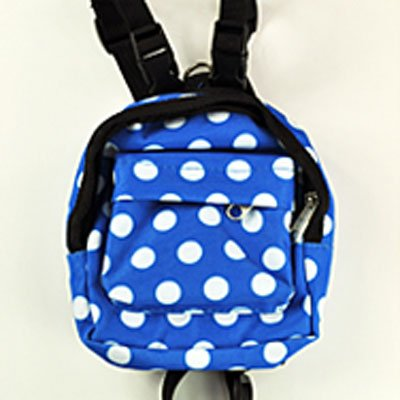 Kawaii Spotted Pet Backpack Harness with Leash for Small or Medium Dog