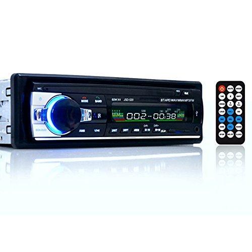 FAVOLCANO-24V-Bluetooth-Freisprecheinrichtung-stereo-FM-Radio-MP3-Audio-Player-mit-hochauflsendem-LCD-Display-AUX-IN-DIN-1-USBSD-MMC-unterstzen-KFZ-Ladegert