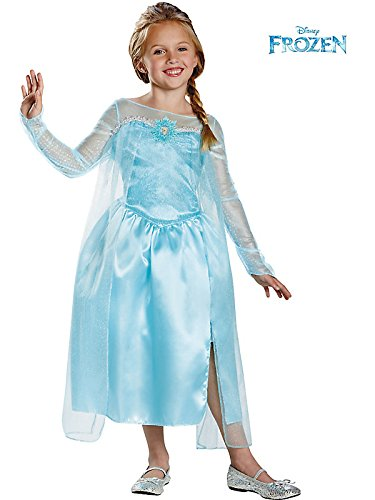 Disguise Disney's Frozen Elsa Snow Queen Gown Classic Girls Costume