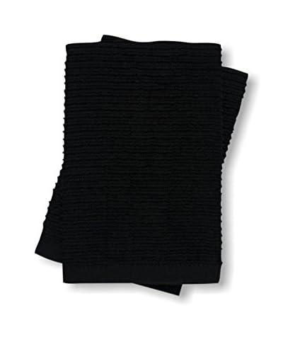 KAF Home Set of 2 Wave Dish Cloths, Black