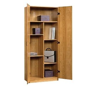 Oak Finish Freestanding Storage Cabinet