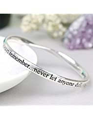 Silver Plated Bangle Always remember... never let anyone dull your sparkle...