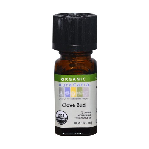Aura Cacia Organic Essential Oil, Clove Bud, 0.25 Ounce