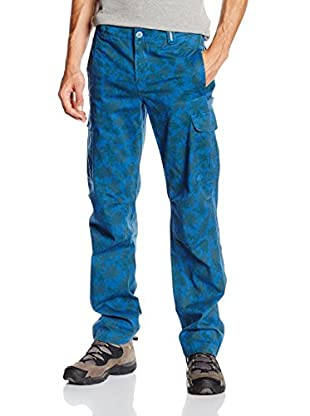 "THINK PINK Pantalón Trekking Pantalone Uomo ""Think Pink""Cargo Con Stampa Camou,Fit Regular,Sovratinto Lavato Enzimi (Azul)"