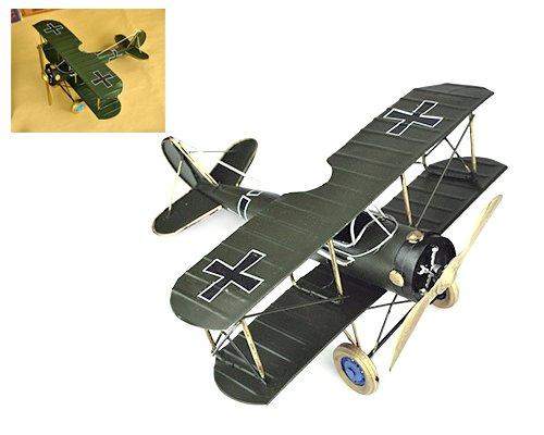 vintage-boeing-stearman-come-skyway-giocattolo-dei-velivoli-di-modello-piana-verde-scuro