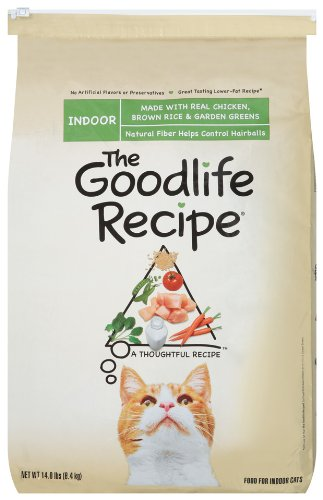 The Goodlife Recipe with Chicken Food for Indoor Cats, 14-Pound Bag