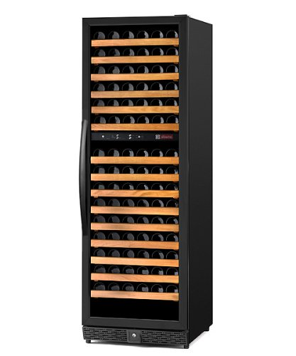 Sale!! Allavino MWR-1682-BL-C Dual-Zone Wine Refrigerator - 170 Bottle Capacity - Left Hinge Black D...
